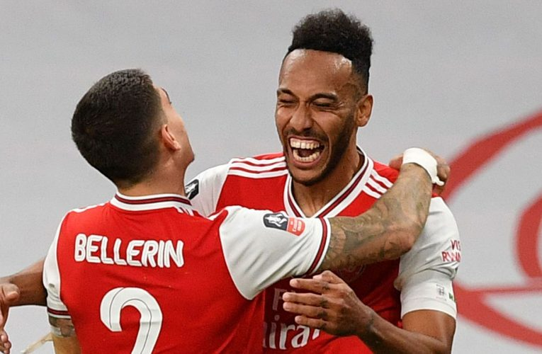 Aubameyang double sends Gunners to FA Cup final