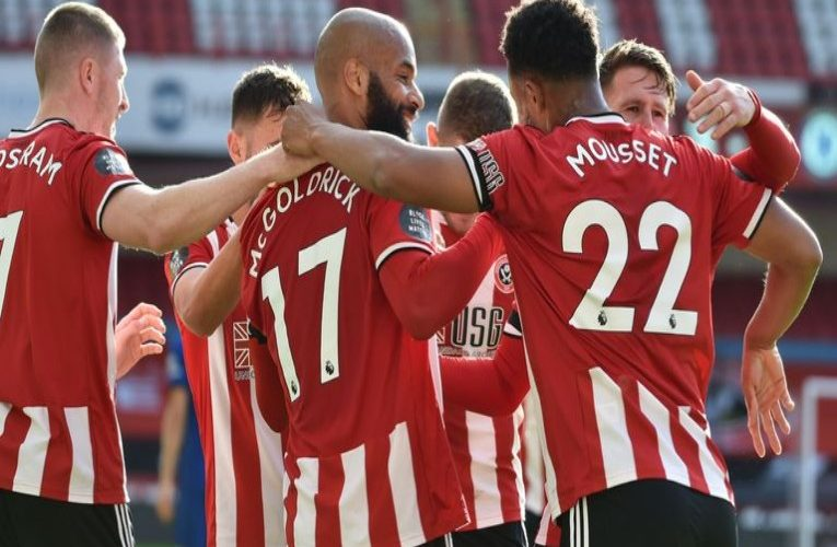 Sheffield United dented Champions League-chasing Chelsea with a 3-0 victory at Bramall Lane