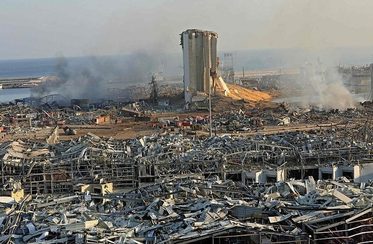 Inside Beirut's ground zero: Astonishing images reveal the scale of devastation in Lebanese capital after mega-explosion ripped through city and left 300,000 homeless