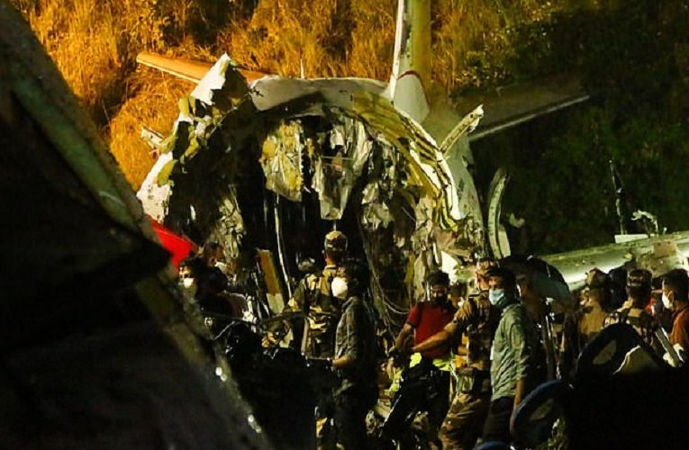 At least 16 dead including both pilots, and 123 injured as Air India flight from Dubai with 191 people onboard crash-lands at Calicut Airport