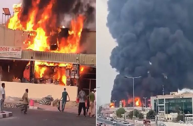 Fire engulfs popular Ajman market in Dubai, UAE (photos/video)