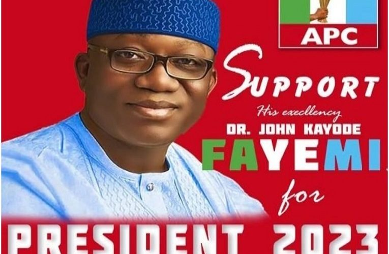 Governor Fayemi's 2023 Presidential Campaign Posters Flood Social Media