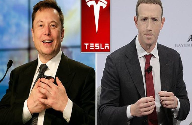 Elon Musk set to overtake Facebook's Mark Zuckerberg to become world's third-richest person as Tesla shares soar