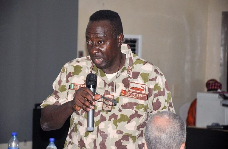 Former Commander of Operation Lafiya Dole, Olusegun Adeniyi demoted after leaked video of him complaining about soldiers fighting Boko Haram not having weapons