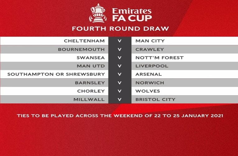 FA Cup: Manchester United Drawn Against Liverpool In Fourth Round