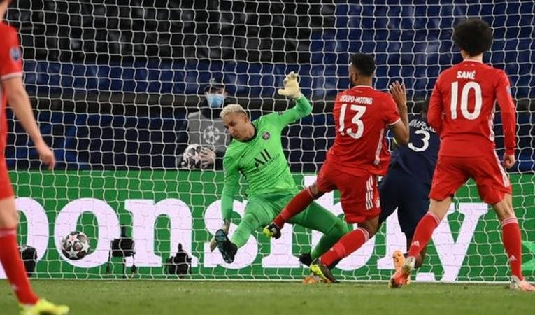 Paris St-Germain were beaten on the night but held on to claim an away-goals victory over holders Bayern Munich