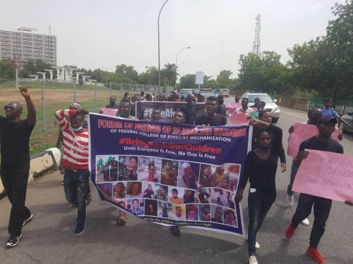 Frustrated Parents Of Abducted Kaduna Students Protest In Abuja