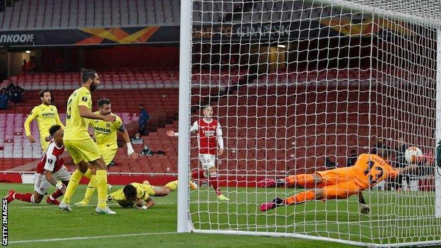 Arsenal's Europa League hopes were dashed as Villarreal sealed a semi-final victory that will almost certainly end the Gunners' unbroken 25-season run of appearing in European competition.