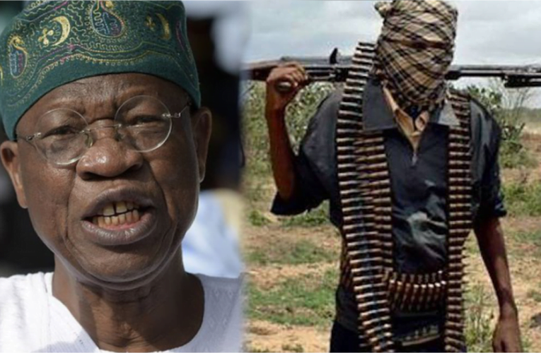 Banditry, kidnapping not federal government concern: Lai Mohammed