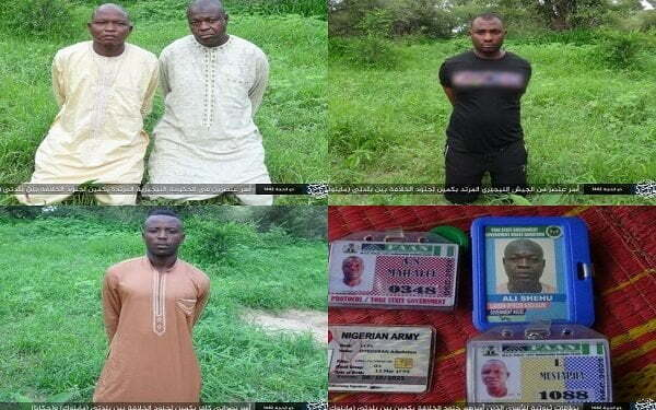 Boko Haram Releases Pictures Of Kidnapped Soldiers, Yobe Protocol Officers