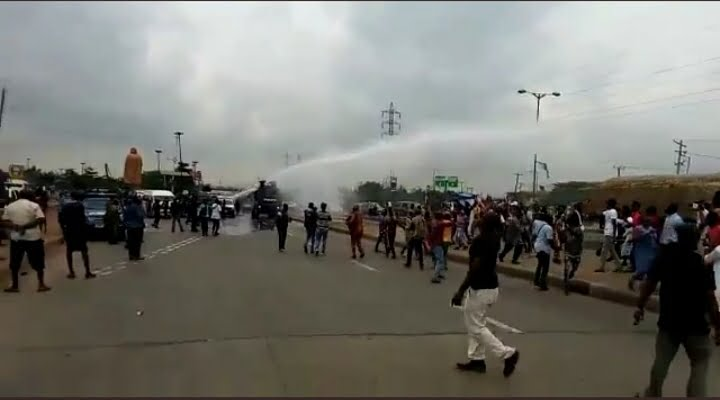 The Moment Police Dispersed Yoruba Nation Protesters At Ojota Rally (Video)