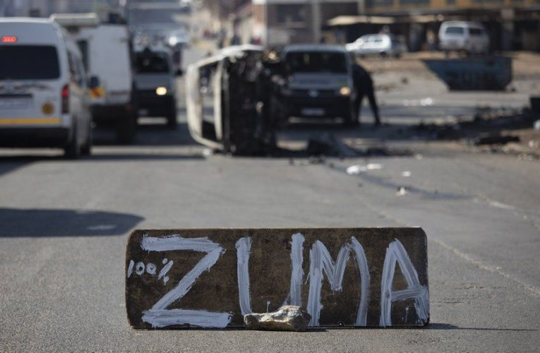Zuma jailed: Arrests as protests spread in South Africa