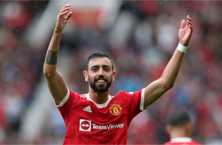 Fernandes nets hat-trick as Manchester United crush Leeds in EPL opener