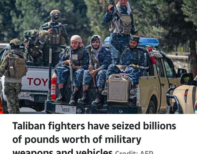 Taliban Steal £62BILLION Worth Of Helicopters, Armoured Vehicles & Weapons