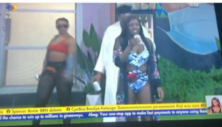 Saskay Disgraces Cross For Slapping Her Bum At #BBNaija Jacuzzi Party(video)